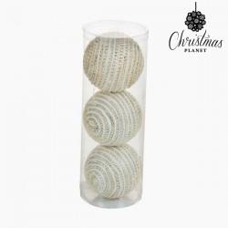 Χριστουγεννιάτικες μπάλες Λευκό Ασημί (3 pcs) by Christmas Planet