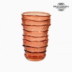 Γυάλινο Ανακυκλωμένο Ποτήρι Κοράλι (8 x 8 x 13 cm) by Bravissima Kitchen