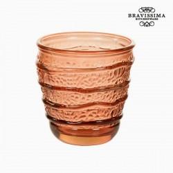 Γυάλινο Ανακυκλωμένο Ποτήρι Κοράλι (9 x 9 x 9 cm) by Bravissima Kitchen