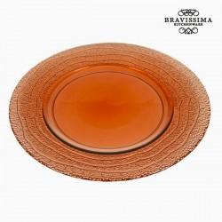 Επίπεδο Γυάλινο Ανακυκλωμένο Πιάτο Κοράλι (32 x 32 x 2 cm) by Bravissima Kitchen