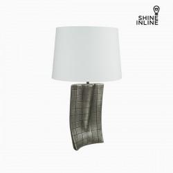 Επιτραπέζιο Φωτιστικό Ασημί Κεραμικά (40 x 9 x 66 cm) by Shine Inline