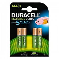 Επαναφορτιζόμενες Μπαταρίες DURACELL DURDLLR03P4B HR03 AAA 800 mAh (4 pcs)