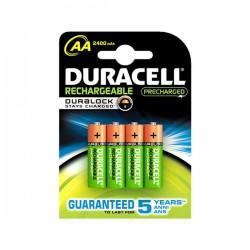 Επαναφορτιζόμενες Μπαταρίες DURACELL AA NiMh 2400 mAh (4 pcs)