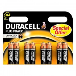 Αλκαλικές Μπαταρίες DURACELL Plus Power DURLR6P8B LR6 AA 1.5V (8 pcs)