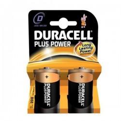 Αλκαλικές Μπαταρίες DURACELL Plus Power DURLR20PB2 LR20 D 1.5V (2 pcs)