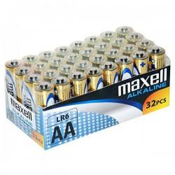Αλκαλικές Μπαταρίες Maxell MXBLR06P32 LR06 AA 1.5V (32 pcs)