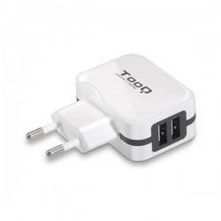 Φορτιστής Τοίχου TooQ TQWC-1S02WT USB x 2 17W Λευκό