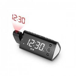 """Ξυπνητήρι Ραδιόφωνο με Προβολέα LCD SPC 4571B 1.2"""" FM Μαύρο"""