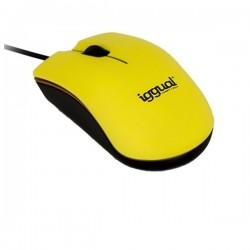 Οπτικό Ποντίκι iggual IGG315040 BEATTLE 1000 dpi 3 D USB Κίτρινο