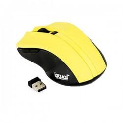 Οπτικό ασύρματο ποντίκι iggual IGG315385 1600 dpi 2,4 GHz Κίτρινο