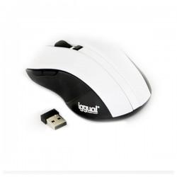 Οπτικό ασύρματο ποντίκι iggual IGG315415 1600 dpi 2,4 GHz Λευκό