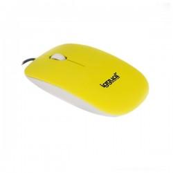 Οπτικό Ποντίκι iggual IGG315149 SLIM-1 1000 dpi USB Κίτρινο Επίπεδο