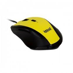 Οπτικό Ποντίκι iggual IGG314975 WORK-1 1600 dpi USB 6 D Κίτρινο