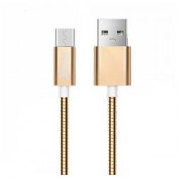 Micro USB Καλώδιο σε USB Ref. 101103 Ροζ χρυσό