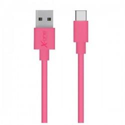 Καλώδιο USB 2.0 σε USB C Ref. 101172 Φούξια