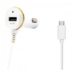 Φορτιστής Αυτοκινήτου Ref. 138192 USB Micro USB Λευκό