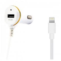 Φορτιστής Αυτοκινήτου Ref. 138215 USB Cable Lightning Λευκό