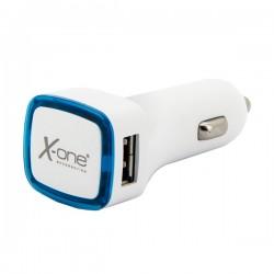 Φορτιστής Αυτοκινήτου Ref. 138406 2 x USB-A Λευκό Μπλε