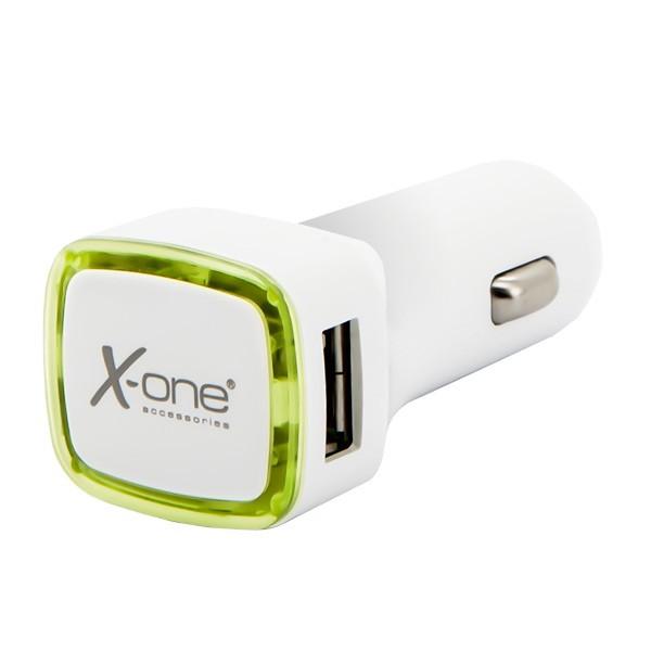 Φορτιστής Αυτοκινήτου Ref. 138413 2 x USB-A Λευκό Πράσινο