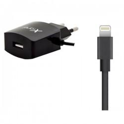 Φορτιστής Τοίχου Ref. 137775 USB 2.1 Cable Lightning Μαύρο