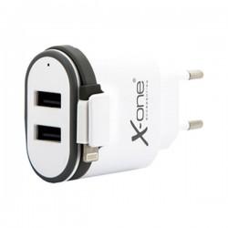 Φορτιστής Τοίχου Ref. 137799 2 x USB 2.1 Cable Lightning Λευκό