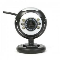 Webcam Omega C12SB 12 mpx LED Μαύρο