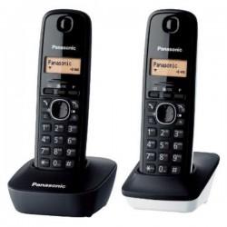 Ασύρματο Τηλέφωνο Panasonic KX-TG1612SP1 Μαύρο Λευκό (2 pcs)
