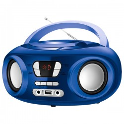 "CD Ραδιόφωνο Bluetooth MP3 9"" BRIGMTON W-501 USB Μπλε"