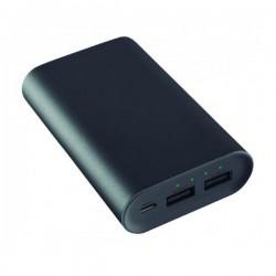Power Bank KSIX 2 X USB 6000 mAh 5 V 2 A Μαύρο Μεταλλικό
