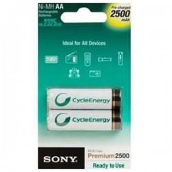 Επαναφορτιζόμενες Μπαταρίες Sony Ni-MH, AA, 2500 mAh NH-AAB2GN 1,2 V 2500 mAh (2 pcs) Λευκό Πράσινο