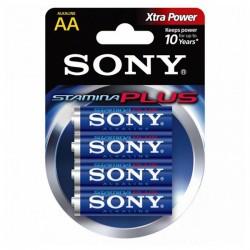 Αλκαλική Μπαταρία Sony 4+2 AA Stamina Plus AM3-B4X2D 1,5 V AA (4 pcs) Μπλε
