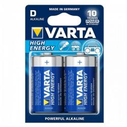 Αλκαλική Μπαταρία Varta LR20 D 1,5 V 16500 mAh High Energy (2 pcs) Μπλε