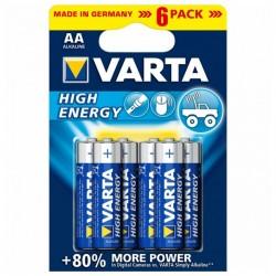 Αλκαλική Μπαταρία Varta 1,5 V AA High Energy (6 pcs) Μπλε
