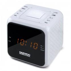 Ρολόι-Ραδιόφωνο Daewoo DCR-450 Λευκό