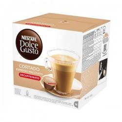 Κάψουλες Καφέ με Θήκη Nescafé Dolce Gusto 94314 Espresso Macchiato Decaffeinato (16 uds)