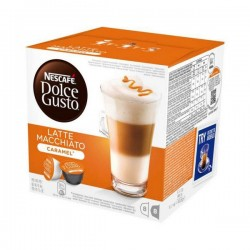 Κάψουλες Καφέ με Θήκη Nescafé Dolce Gusto 24191 Latte Macchiato (16 uds) Καραμελί