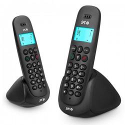 Ασύρματο Τηλέφωνο DUO Telecom 7312N DECT Μαύρο