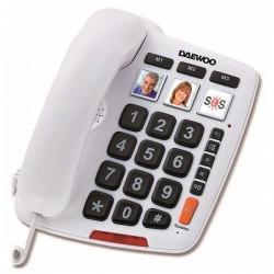 Σταθερό Τηλέφωνο για Ηλικιωμένους Daewoo DTC-760 LED Λευκό