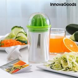 Κόφτης Λαχανικών και Αποχυμωτής 4 σε 1 με Βιβλίο Συνταγών InnovaGoods