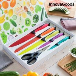 Σετ Κεραμικών Μαχαιριών και Ψαλιδιών Swiss•Q Fashion InnovaGoods (6 Τεμάχια)
