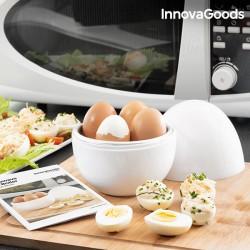 Συσκευή για Βράσιμο Αυγών για Φούρνο Μικροκυμάτων με Βιβλίο Συνταγών Boilegg InnovaGoods