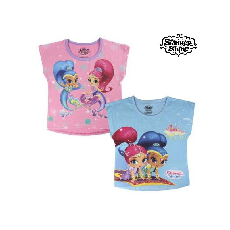 3721435d2cb Παιδικό Μπλούζα με Κοντό Μανίκι Shimmer and Shine 6428 Ροζ (μέγεθος 2 ετών)