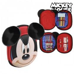 Τριπλή κασετίνα Mickey Mouse 8393 Κόκκινο
