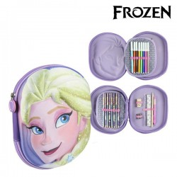 Τριπλή κασετίνα Frozen 8454 Λιλά