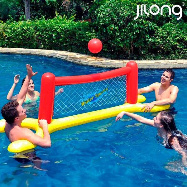 Φουσκωτό Δίχτυ Βόλεϊ Jilong JO1291 (239 x 74 x 76 cm) Κόκκινο Κίτρινο