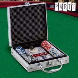 Σετ για Πόκερ με Βαλιτσάκι Luxe Th3 Party (100 μάρκες)