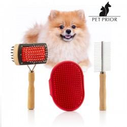 Σετ με Βούρτσες για Σκύλους Collection Pet Prior (3 Τεμάχια)