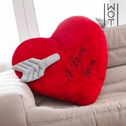 Μαξιλάρι Καρδιά με Βέλος I Love You Wagon Trend (60 εκ)