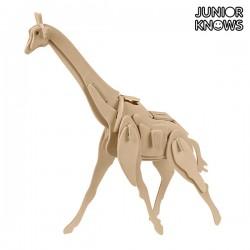 Ξύλινο 3D Πάζλ Άγρια Ζώα Junior Knows