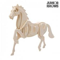 Ξύλινο 3D Πάζλ Φάρμα Ζώων Junior Knows